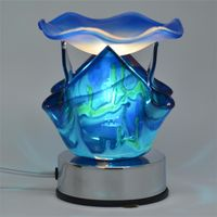 Blue Artistic Touch Electric Aroma Lamp FREE FRAGRANCE