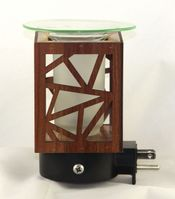 Brown Plug In Fragrance Warmer w/Free Scent