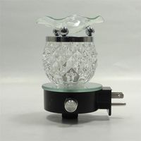 Cut Glass Electric Aroma Lamp FREE 1 oz FRAGRANCE
