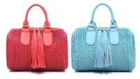 Miss Las Vegas OSTRICH EMBOSSED TASSEL ACCENT QUILTED