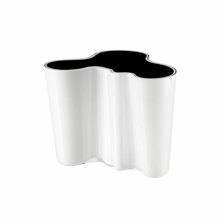 Aalto White / Black Dual Colored Vase – 6-1/4""
