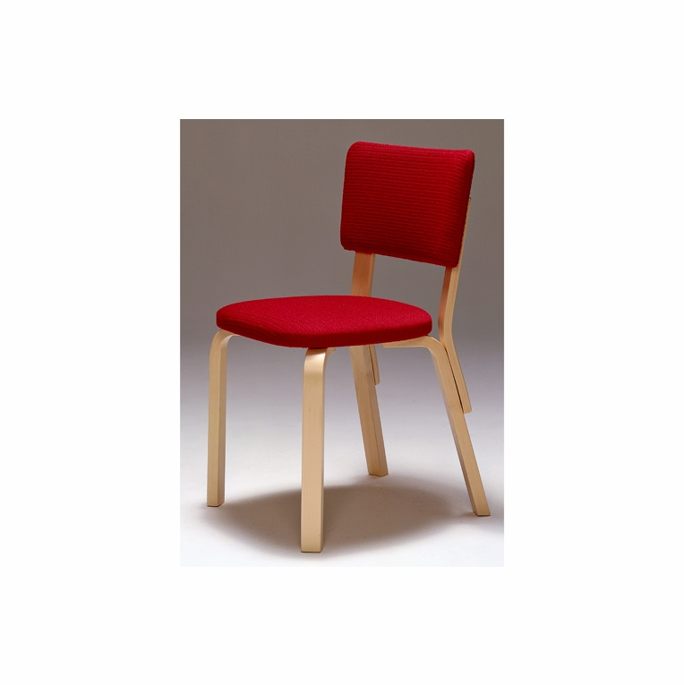 Artek Alvar Aalto - Chair 63 - Birch Legs with Upholstered Seat