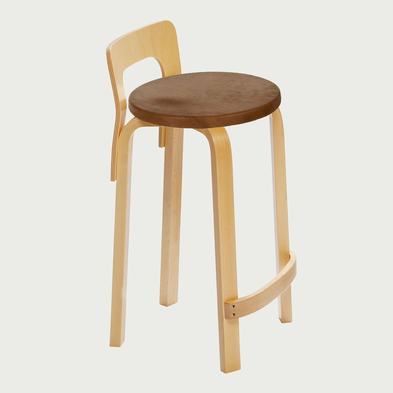 Artek Alvar Aalto K65 Low Back Kitchen / Bar Stool - Your Own Fabric