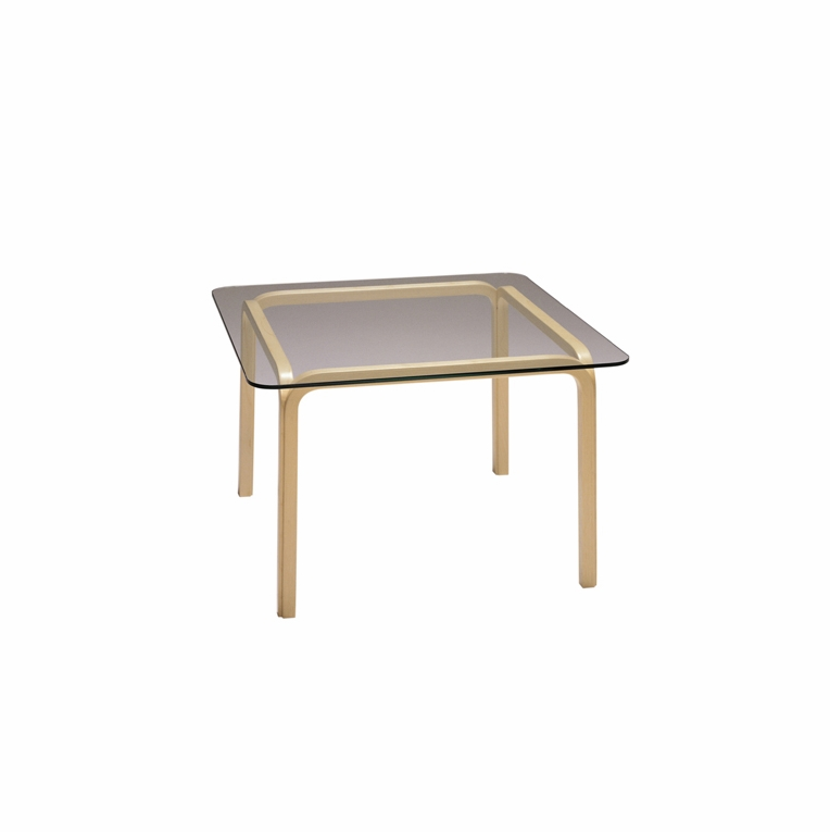 Artek Alvar Aalto - Medium Glass Top Table Y805B