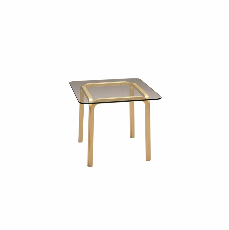 Artek Alvar Aalto - Small Glass Top Table Y805C