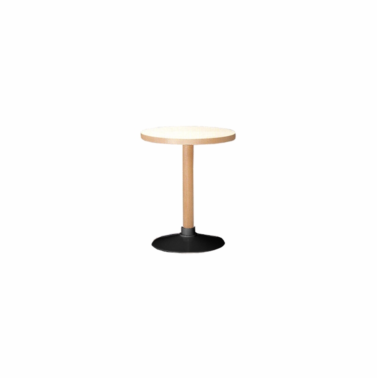 Artek Alvar Aalto   Small Pedestal Table P90C   Black Base