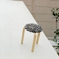 Artek Alvar Aalto  - Three-Legged Stool 60 - Birch Legs with Zebra Seat