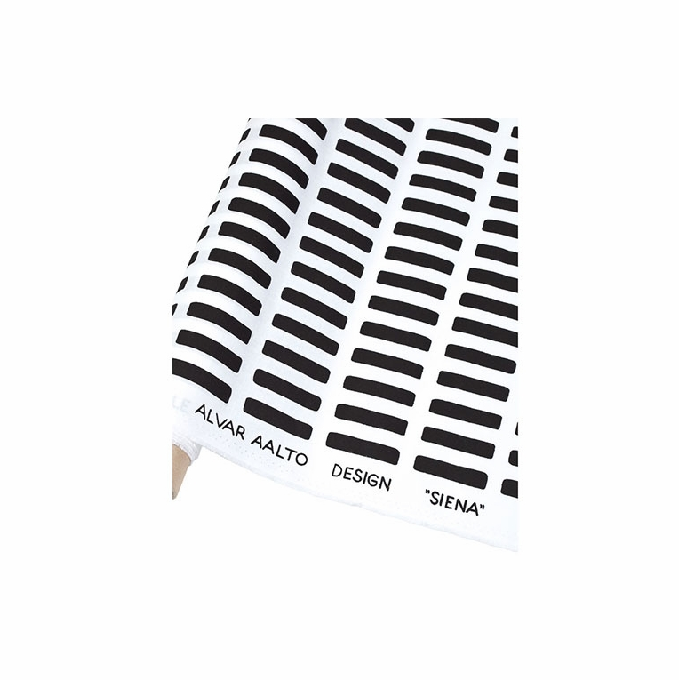Artek Siena White/Black Cotton Fabric