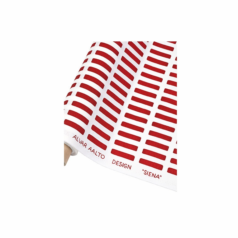 Artek Siena White/Red Cotton Fabric