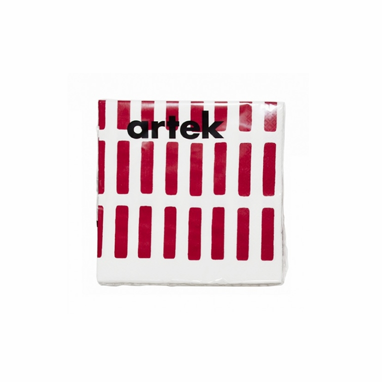 Artek Siena White/Red Large Paper Napkins