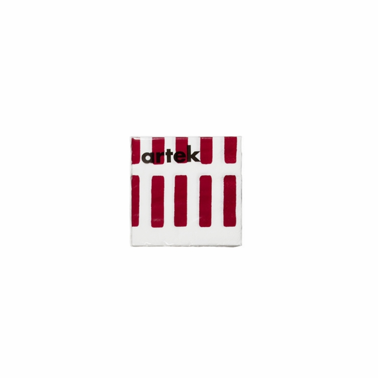 Artek Siena White/Red Small Paper Napkins