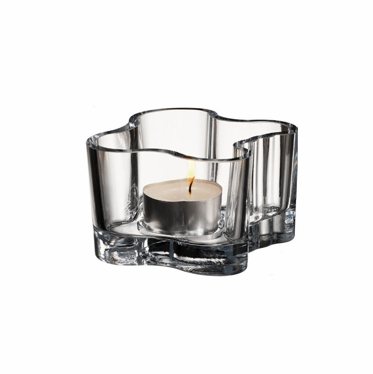 Iittala Aalto Clear Votive Candle Holder