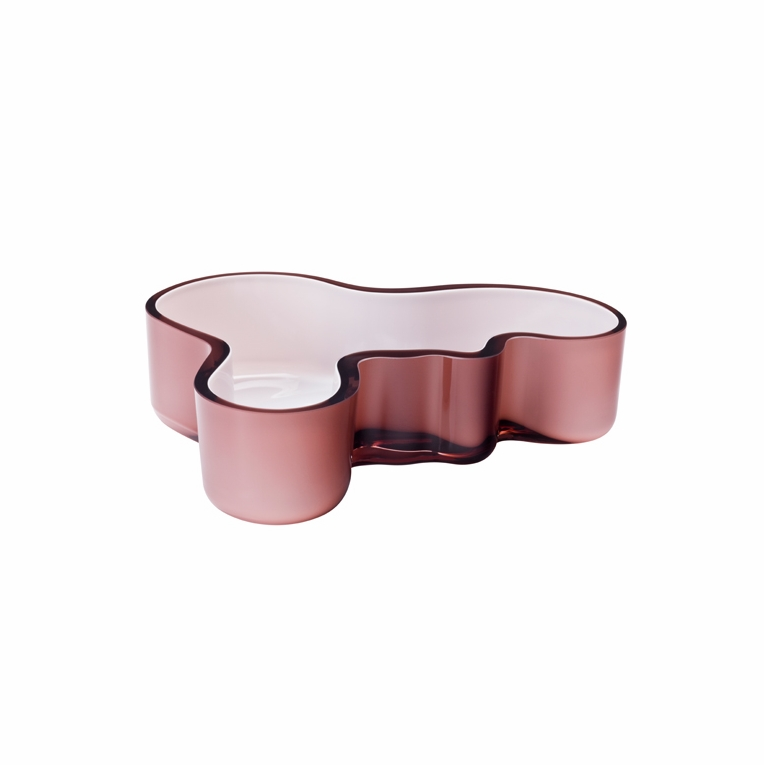 iittala Aalto Mauve/Purple & White Small Tray