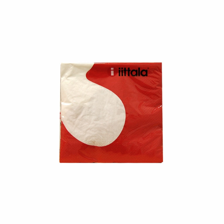 iittala Aalto Red/White Dinner Napkins - Set of 3