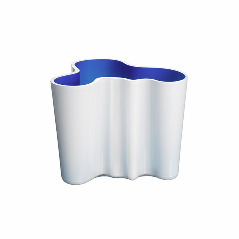 Iittala Aalto White / Blue Dual Colored Vase  – 6-1/4""