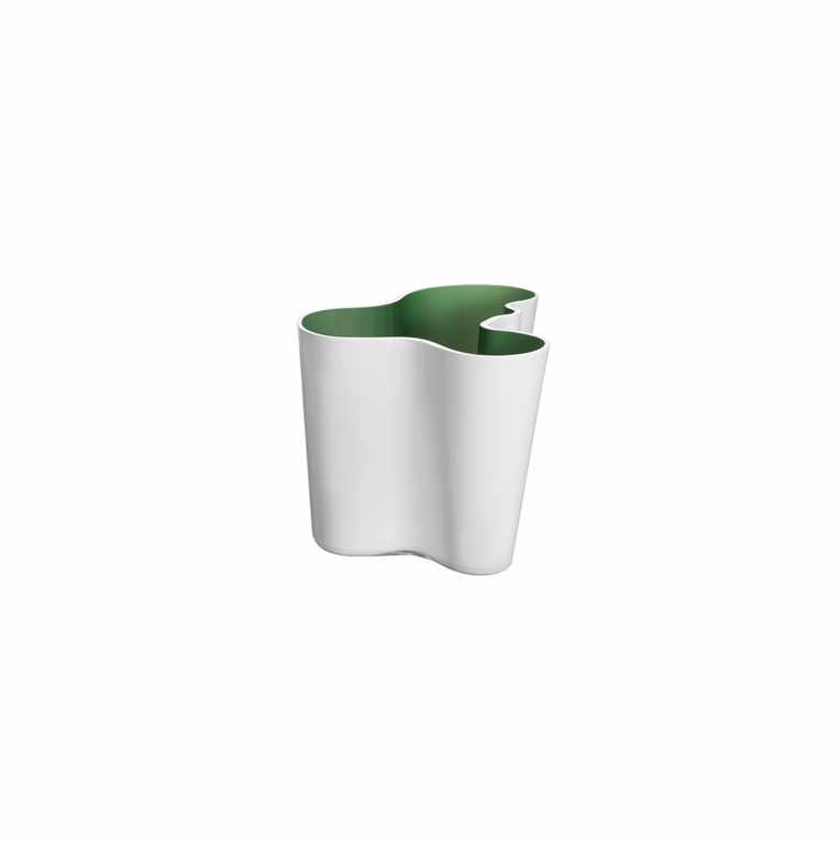 Iittala Aalto White / Green Dual Colored Vase – 6-1/4""