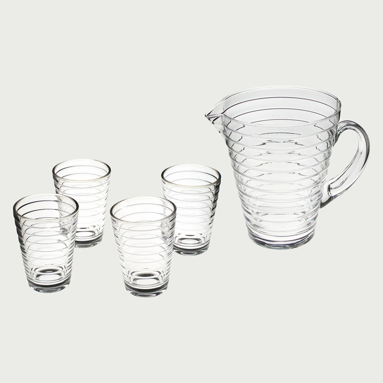 iittala Aino Aalto Clear Pitcher and Tumblers Set