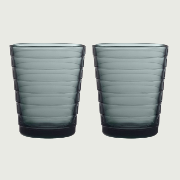 iittala Aino Aalto Dark Grey Medium Tumblers - Set of 2