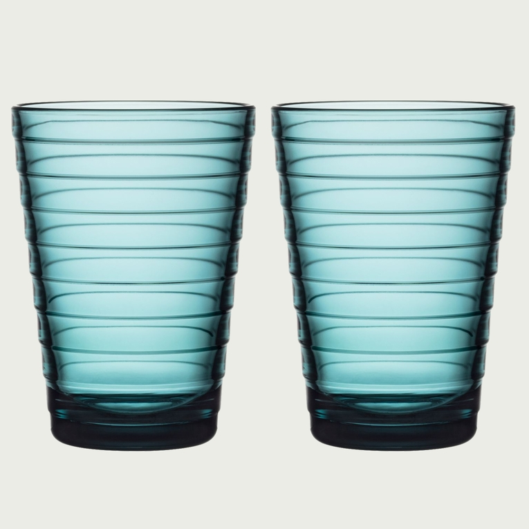 iittala Aino Aalto Sea Blue Large Tumblers - Set of 2