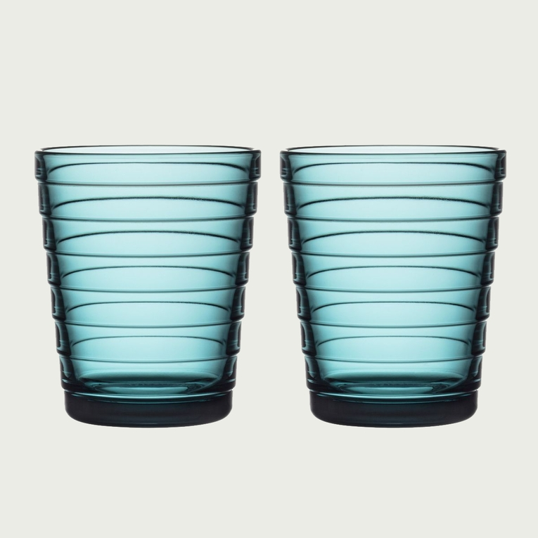 iittala Aino Aalto Sea Blue Medium Tumblers - Set of 2