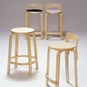 Natural Aalto Tall Kitchen / Bar Stool w/Back
