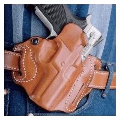 DeSantis 002 S&W M&P Compact 9/40 Speed Scabbard Belt Holster Right Hand Leather BLACK