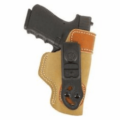 DeSantis 106 Glock 26, 27, 33, Walther PPS/ PK380 Sof-Tuck Inside the Pant Right Hand Leather Tan