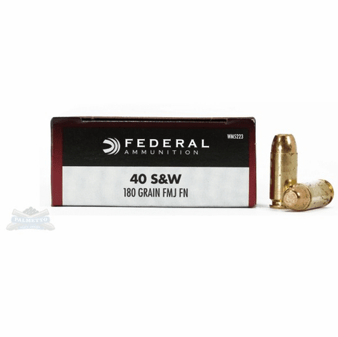 Federal 40 SW 180 grain fmj IN STOCK