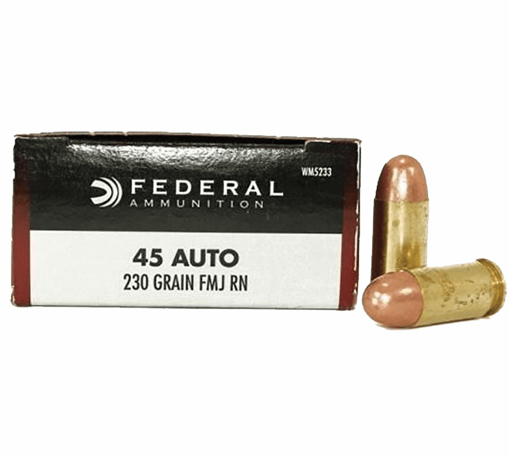 Federal 45 auto  230 grain FMJ (wms233) IN STOCK