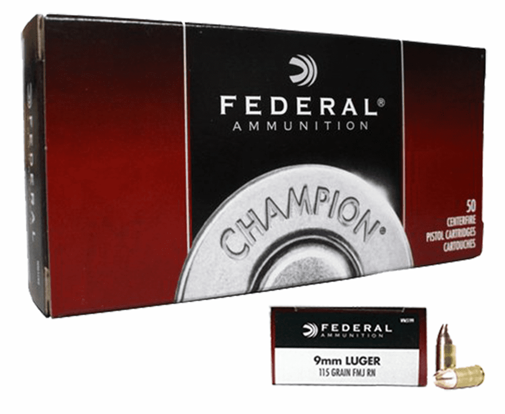 Federal 9mm 115 grain fmj 50rnd box IN STOCK  (wm5199)