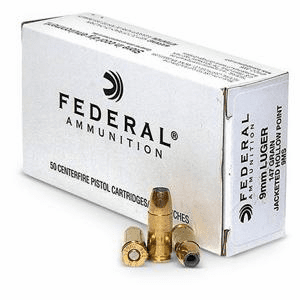 Federal Ammunition 9MM 50Rds For 12.99