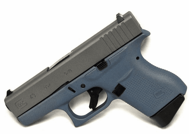 Glock 43 Blue Titanium and Silver (9mm)