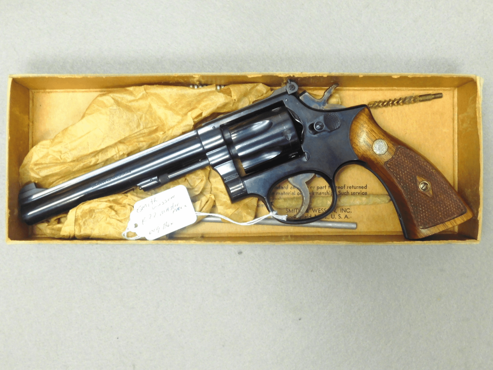 """Smith Wesson K22 masterpiece .22 6"""" bbl, org box"""