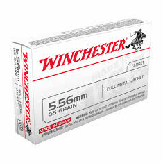 Winchester 5.56 55gr full metal jacket 20rnd box IN STOCK