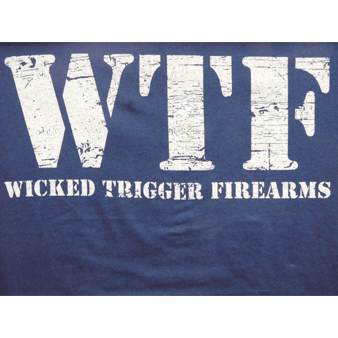 WTF Ladies Tee in Navy and Grey (XS/S/M/L/XL)