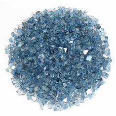1/4in Pacific Blue Reflective Fireglass