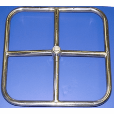 "12"" Stainless Steel Square Fire Ring"