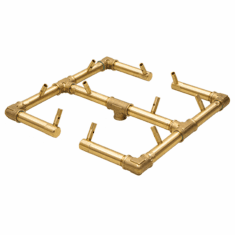 "13"" x 13"" Original Crossfire Brass Burner 120K BTU"