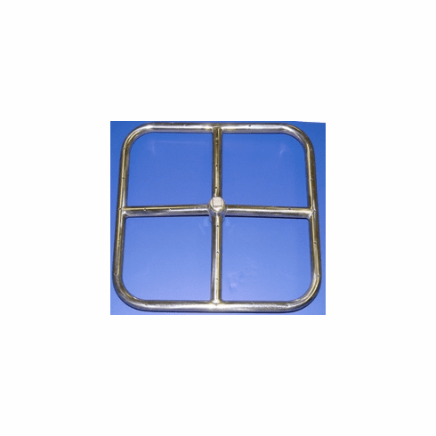 """18"""" Stainless Steel Square Fire Ring"""