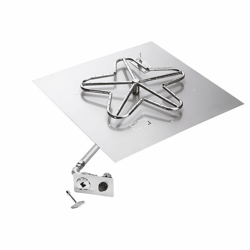 18in Square Flat Pan Push Button Ignition Firepit Kit