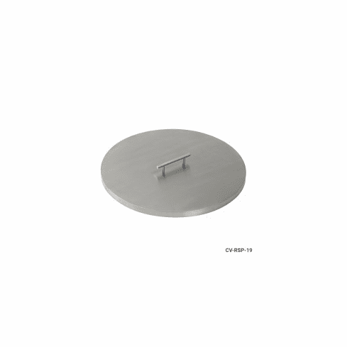 """19"""" Stainless Steel Round Fire Pit Cover"""