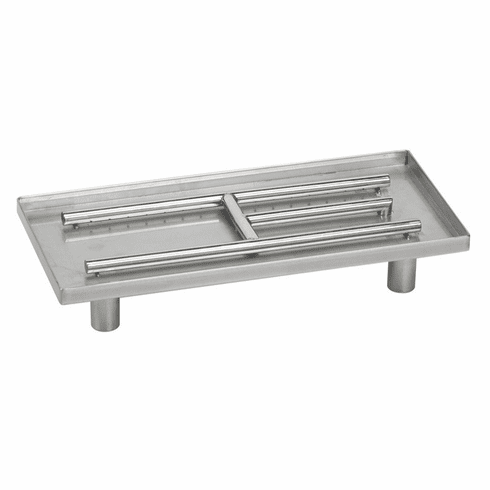 22inX10in Stainless Steel Rectangular Pan Burner