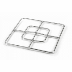 "24"" Stainless Steel Square Fire Ring"