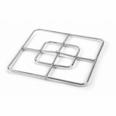 """24"""" Stainless Steel Square Fire Ring"""