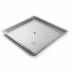 24in Square Bowl Stainless Steel Burner Pan