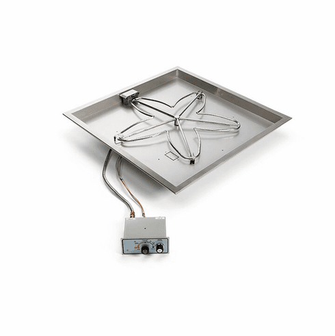 24in Square Manual Electronic Ignition Fire Pit Kit