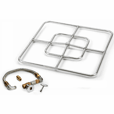 24in Square Stainless Steel Fire Pit Kit