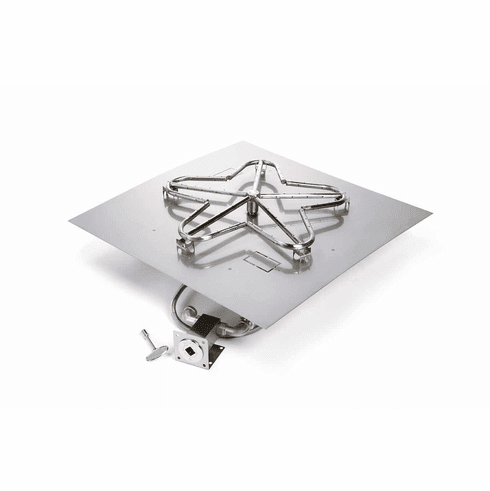 24in Square Stainless Steel Match lit Kit and Flat Pan