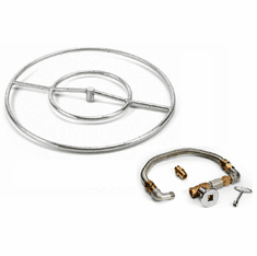 24in Stainless Steel Fire Pit Kit