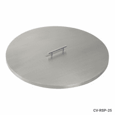 "25"" Stainless Steel Round Fire Pit Cover"